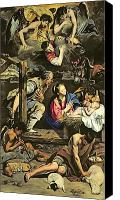 Magi Canvas Prints - The Adoration of the Shepherds Canvas Print by Fray Juan Batista Maino or Mayno