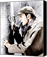 1930s Movies Canvas Prints - The Adventures Of Sherlock Holmes Canvas Print by Everett