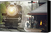 Rail Vehicles Canvas Prints - The Allegany Central Excursion Train Canvas Print by Joel Sartore
