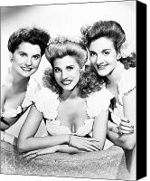Hairstyle Photo Canvas Prints - The Andrews Sisters Canvas Print by Granger