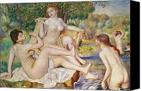 Breasts Canvas Prints - The Bathers Canvas Print by Pierre Auguste Renoir
