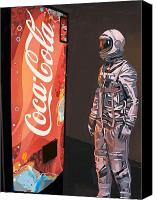 Science Painting Canvas Prints - The Coke Machine Canvas Print by Scott Listfield