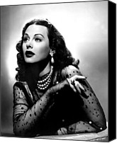 Publicity Shot Canvas Prints - The Conspirators, Hedy Lamarr, 1944 Canvas Print by Everett
