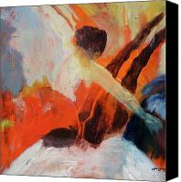 New York Music Canvas Prints - The Dancer  Canvas Print by Rosa Alfaro Carozzi
