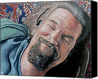 Big Painting Canvas Prints - The Dude Canvas Print by Tom Roderick
