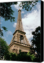 Ile De France Canvas Prints - The Eiffel Tower, Paris Canvas Print by Martin Diebel