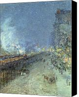 Lamps Painting Canvas Prints - The El Canvas Print by Childe Hassam