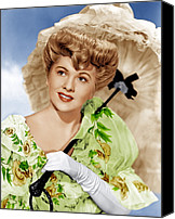 White Gloves Canvas Prints - The Emperor Waltz, Joan Fontaine, 1948 Canvas Print by Everett
