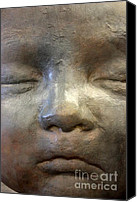 Still Life Sculpture Photo Canvas Prints - The Face Canvas Print by Sophie Vigneault
