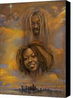 African American Female Canvas Prints - The Faces of God Canvas Print by Gary Williams