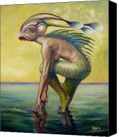 Monster Painting Canvas Prints - The Finandromorph Canvas Print by Patrick Anthony Pierson
