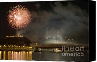 Independance Day Canvas Prints - The firework Canvas Print by Odon Czintos