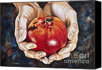 Ilse Kleyn Painting Canvas Prints - The fruit of Jesus sacrifice II Canvas Print by Ilse Kleyn