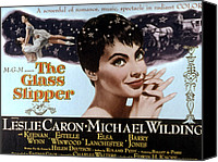 1955 Movies Canvas Prints - The Glass Slipper, Leslie Caron Canvas Print by Everett