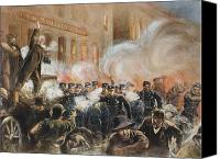 Martyrs Canvas Prints - The Haymarket Riot, 1886 Canvas Print by Granger