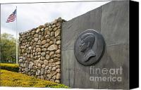 Veterans Memorial Canvas Prints - The John F. Kennedy Memorial at Veterans Memorial Park in Hyanni Canvas Print by Matt Suess
