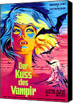 1960s Poster Art Canvas Prints - The Kiss Of The Vampire, Aka Kiss Of Canvas Print by Everett