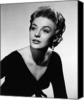 1955 Movies Canvas Prints - The Last Frontier, Anne Bancroft, 1955 Canvas Print by Everett