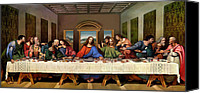 Last Supper Canvas Prints - The Last Supper Canvas Print by Leonardo da Vinci