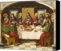Gesturing Canvas Prints - The Last Supper Canvas Print by Master of Portillo