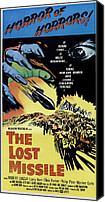 1950s Movies Canvas Prints - The Lost Missle, 1958 Canvas Print by Everett