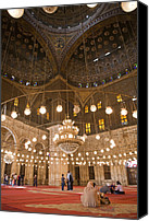 Allah Canvas Prints - The Mosque Of Mohammed Ali In Saladins Canvas Print by Taylor S. Kennedy