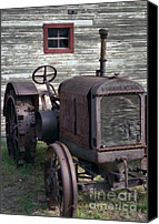 Farm Equipment Canvas Prints - The Old Mule  Canvas Print by Richard Rizzo