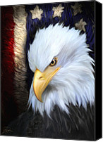 Flag Digital Art Canvas Prints - The Patriot Canvas Print by Joel Payne