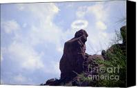 James Insogna Canvas Prints - The Praying Monk with Halo - Camelback Mountain Canvas Print by James Bo Insogna