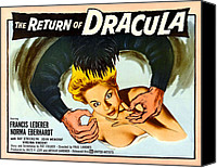 1950s Movies Canvas Prints - The Return Of Dracula, Francis Lederer Canvas Print by Everett