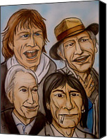 The Rolling Stones Canvas Prints - The Rolling Stones Canvas Print by Pete Maier