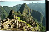 Ancient Photo Canvas Prints - The Ruins Of Machu Picchu, Peru, Latin America Canvas Print by Brian Caissie