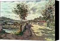 Bougival Canvas Prints - The Seine at Bougival Canvas Print by Claude Monet