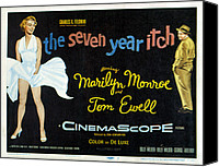 1955 Movies Canvas Prints - The Seven Year Itch, Marilyn Monroe Canvas Print by Everett