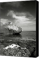Woman And Nature Canvas Prints - The shipwreck Canvas Print by Manolis Tsantakis