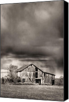 White Barn Canvas Prints - The Smell of Rain Canvas Print by JC Findley