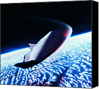 Challenge Canvas Prints - The Space Shuttle Re-entering The Earths Atmosphere Canvas Print by Stockbyte