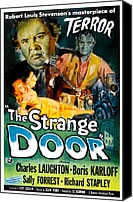 1950s Movies Canvas Prints - The Strange Door, Charles Laughton Canvas Print by Everett