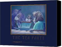 Leonard Filgate Canvas Prints - The Tea Party Canvas Print by Leonard Filgate