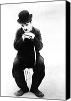 Publicity Shot Canvas Prints - The Tramp, Aka Charlie On The Farm Canvas Print by Everett