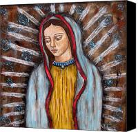 Virgen De Guadalupe Canvas Prints - The Virgin of Guadalupe Canvas Print by Rain Ririn
