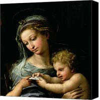 Mother Of God Canvas Prints - The Virgin of the Rose Canvas Print by Raphael