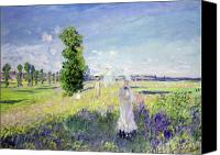 Impressionism Canvas Prints - The Walk Canvas Print by Claude Monet