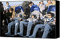 10:7 Canvas Prints - Third Salyut 7 Space Station Crew, 1984 Canvas Print by Ria Novosti