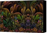 Escher Canvas Prints - This Peculiar Life - Fractal Art Canvas Print by NirvanaBlues