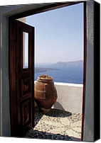 Thira Canvas Prints - Through This Door Canvas Print by Julie Palencia