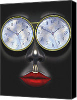 Face Digital Art Canvas Prints - Time In Your Eyes Canvas Print by Mike McGlothlen