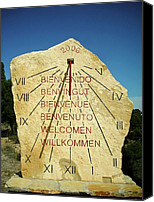 Dial Photo Canvas Prints - Time ... Canvas Print by Juergen Weiss