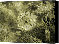 Minute Digital Art Canvas Prints - Time Piece II Canvas Print by East Coast Barrier Islands Betsy A Cutler