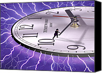 Time Travel Canvas Prints - Time Stops For No One Canvas Print by Mike McGlothlen